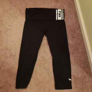 Pink Yoga Crop Pants XS